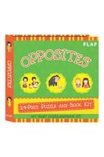 Opposites 24-piece Puzzle-and-Book Kit